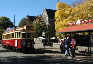 Christchurch tramway-Circuit Nouvelle Zélande