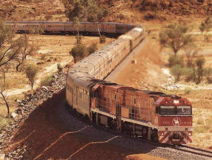 Trains en Australie – Ghan , Indian Pacific et Overland