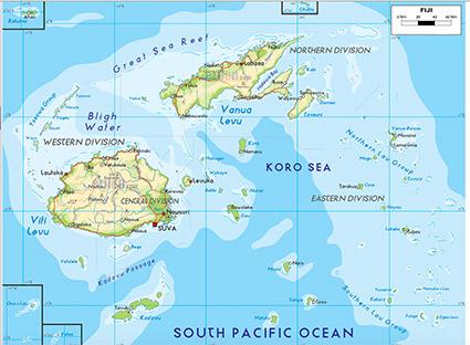 Carte Australie Et Iles Fidji.Carte Fidji Antipodes Travel
