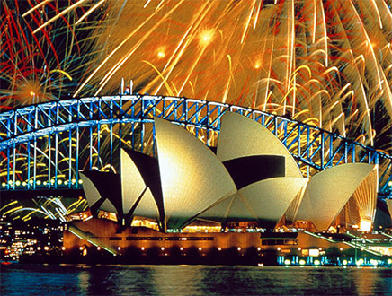 Sydney artifice nouvel an